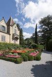 The garden of Oberhofen Castle, Switzerland Royalty Free Stock Photos