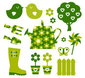 Garden objects and elements Stock Photos