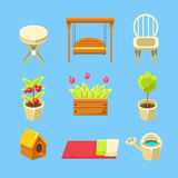 Garden Objects Set Stock Photography