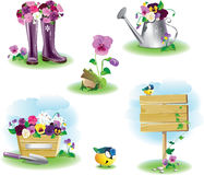 Garden objects set Royalty Free Stock Photography
