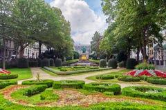 Garden Of Small Sablon (Jardin Du Petit Sablon), Brussels, Belgium. Royalty Free Stock Photography