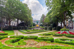 Garden Of Small Sablon (Jardin Du Petit Sablon), Brussels, Belgium. Stock Photos