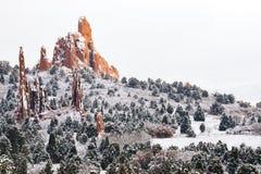 Free Garden Of The Gods - Colorado Springs Winter Snow Stock Photography - 95096132