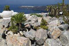 Garden in Oia. Royalty Free Stock Images