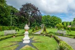 Garden of the old mension Menkemaborg Stock Photo
