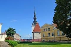 Garden in old Tallinn Royalty Free Stock Images