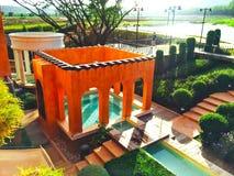 Garden. Orange box garden royalty free stock images