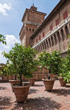 Garden of the Oranges. Estense Castle. Emilia-Roma Royalty Free Stock Images