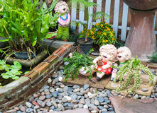 Garden ornament doll Royalty Free Stock Photography