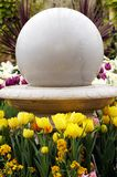 Garden ornament with flowers Royalty Free Stock Photos