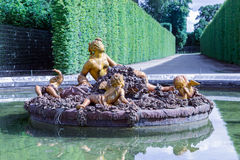 Garden with ornamental Pond Palace Versailles near Paris, France Stock Photography