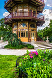 Garden and pagoda at Patterson Park in Baltimore, Maryland. Royalty Free Stock Photos