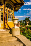Garden and pagoda at Patterson Park in Baltimore, Maryland. Stock Image