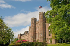 Garden and the palace. The great architecture  of scone palace in scotland Royalty Free Stock Images