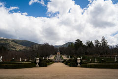 Garden of Palace La Granja de San Ildefonso, Spain Royalty Free Stock Image