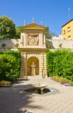 Garden of the  Palace, Seville Royalty Free Stock Images