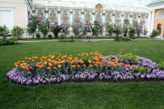 Garden in  the palace Royalty Free Stock Photography