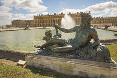 In the Garden Palace of Versailles Stock Photo