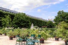 Palais Royal garden in center of Paris, France stock photos
