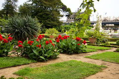 The  Garden of the Palazzo Doria Pamphili in Genoa Italy Royalty Free Stock Photo