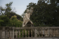 The  Garden of the Palazzo Doria Pamphili in Genoa Italy Royalty Free Stock Photos