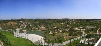 Garden panorama Stock Photography