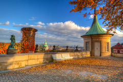 Garden of Paradise in Prague in Czech Republic Royalty Free Stock Images