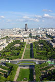 Garden of Paris. Paris view from the Eiffel tower royalty free stock photos