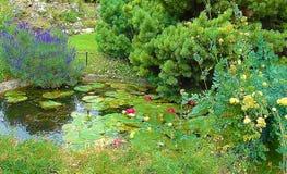 Garden in Paris stock photo