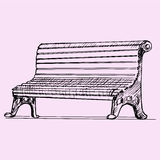 Garden park bench Stock Photo