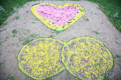 Garden and park decoration painted stone Royalty Free Stock Images