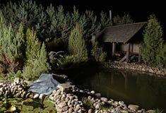 Garden park at night Stock Photography