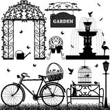 Garden Park Recreational. A set of garden stuffs and equipments scenario