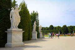 Garden Park of Schonbrunn Palace, Vienna Stock Photo