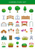 Garden Park Set. Set of 30 garden park vector images Royalty Free Stock Image