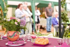 Garden party. For a family meeting Royalty Free Stock Image