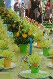 Garden party. Table, family celebration Stock Photos