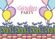 Garden party card Royalty Free Stock Image