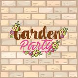 Garden party card Royalty Free Stock Photo