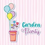 Garden party card Stock Images
