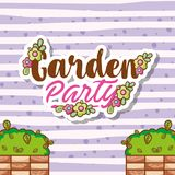 Garden party card Stock Image