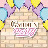 Garden party card Stock Photography