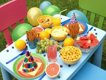 Garden party for children Royalty Free Stock Image