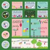 Garden party collection Royalty Free Stock Photos