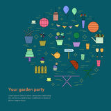 Garden party design concept. Royalty Free Stock Photos