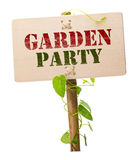 Garden party invitation card Stock Photos
