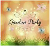 Garden party invitation Stock Photos