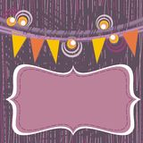 Garden party purple background Royalty Free Stock Image