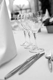 Garden party table. Detail of a catering table royalty free stock image