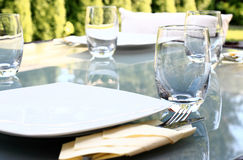 Garden party table Stock Image